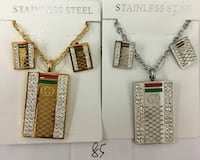 two stainless steel Gucci jewelry set