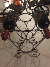Wrought iron wine rack  Vaughan, L6A 1A4