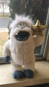 "Rudolph Abominable Snowman 18"" plush toy"