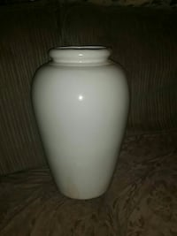 white ceramic large vase Hamilton