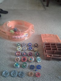 beyblades, when they used to make them with metal.