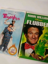 Toothless and Flubber vhs tapes