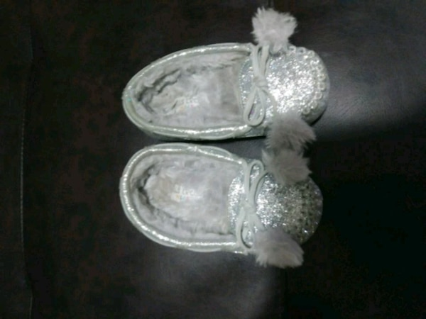 pair of gray slip-on shoes