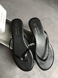LC Lauren Conrad black leather sandals (size 6) Arlington, 22207