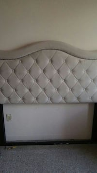 tufted white leather bed headboard Hartford, 06106