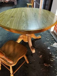 Heavy Duty Pedestal Table + 4 Chairs