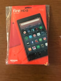 Fire HD 8 red tablet- 5w power adapter-USB charging cable Baltimore, 21222