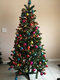 6.5 inch Christmas tree with lights and colorful hangings Ashburn, 20148
