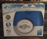 blue and white pure guardian 100-hour ultrasonic humidifier box
