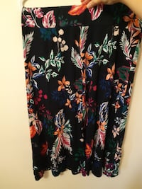 floral pattern maxi skirt - large