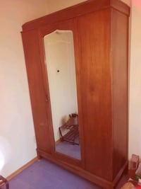 brown wooden cabinet with mirror Calgary, T2M 0B4