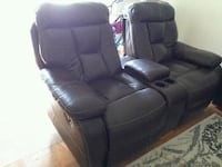 black leather recliner sofa chair Gaithersburg, 20878