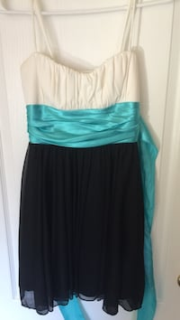 white, black and teal spaghetti strap empire waist dress Cambridge, N3H 3P6