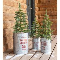 Olle and Hearth galvanized holiday bucket  Rocky View No. 44, T3R 1B5