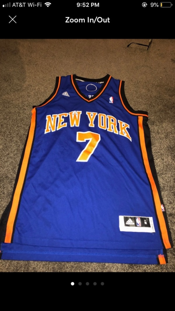 huge discount b86b0 368e8 Throwback Carmelo Anthony Knicks Jersey