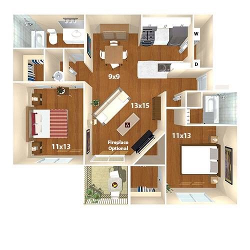 Room available Sept. 1st in 2 bed/2 bath apartment in Fairfax