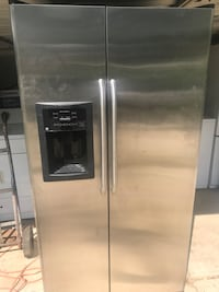 stainless steel side-by-side refrigerator with dispenser Redford