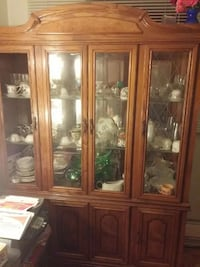 brown wooden china cabinet Montréal, H1Z 3A2