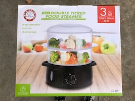 Double Tiered Food Steamer