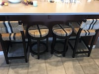 four tan-and-black bar stools, 5 mo old from Pier One, $25 each. 24""