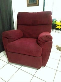 red fabric sofa chair with ottoman Bakersfield, 93305