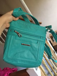 teal leather crossbody bag with tassel Baltimore, 21215