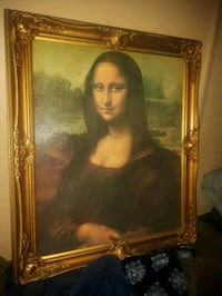 GOLD FRAMED ACTUAL MONA LISA PAINTING REPRODUCTION Surrey, V3W 5L3
