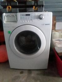 white Samsung front-load clothes washer Hampton, 23669
