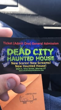 haunted house tickets  4 count West Valley City, 84120