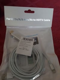 white 8-pin lighting HDTV cable