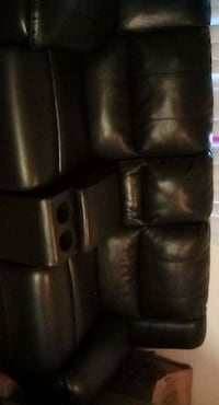Used leather couch set