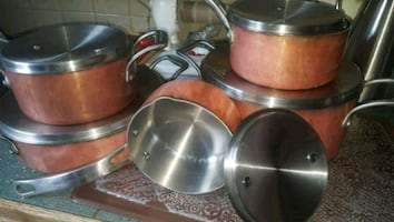 LAGOSTINA 10Pc. HIGH QUALITY COPPER COOKING SET