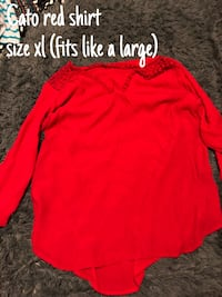 red and black long-sleeved shirt Camden, 29020