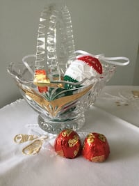 Lovely  Crystal basket  from Germany / Made in Germany Lead Crystal Alexandria, 22311