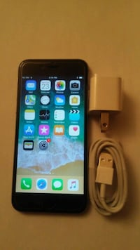 space gray iPhone 6 with charger Toronto, M9V 5G9