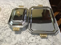 SilvervPlate and Brass Tray and Covered Dish Caledon, L7E 0K5