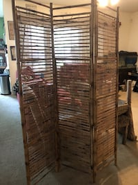 two brown wooden 4-panel room divider Wilmington, 28412