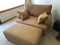 Ethan Allen Franklin chair and Ottoman Woodinville