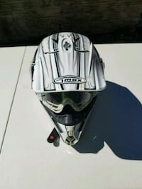 white and black Gmax motocross helmet Livonia, 48152