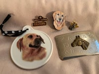 Pins, a belt buckle and an ornament