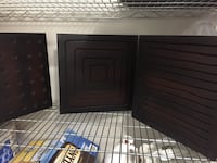 Decorative Wall tiles made of wood. I have 3 piece of each pattern for a total of 9 tiles. Originally bought from West Elm store