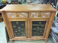 brown wooden cabinet with drawer 3133 km