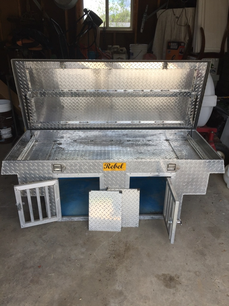 used aluminum dog box
