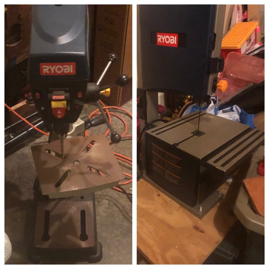 Ryobi drill press and table saw