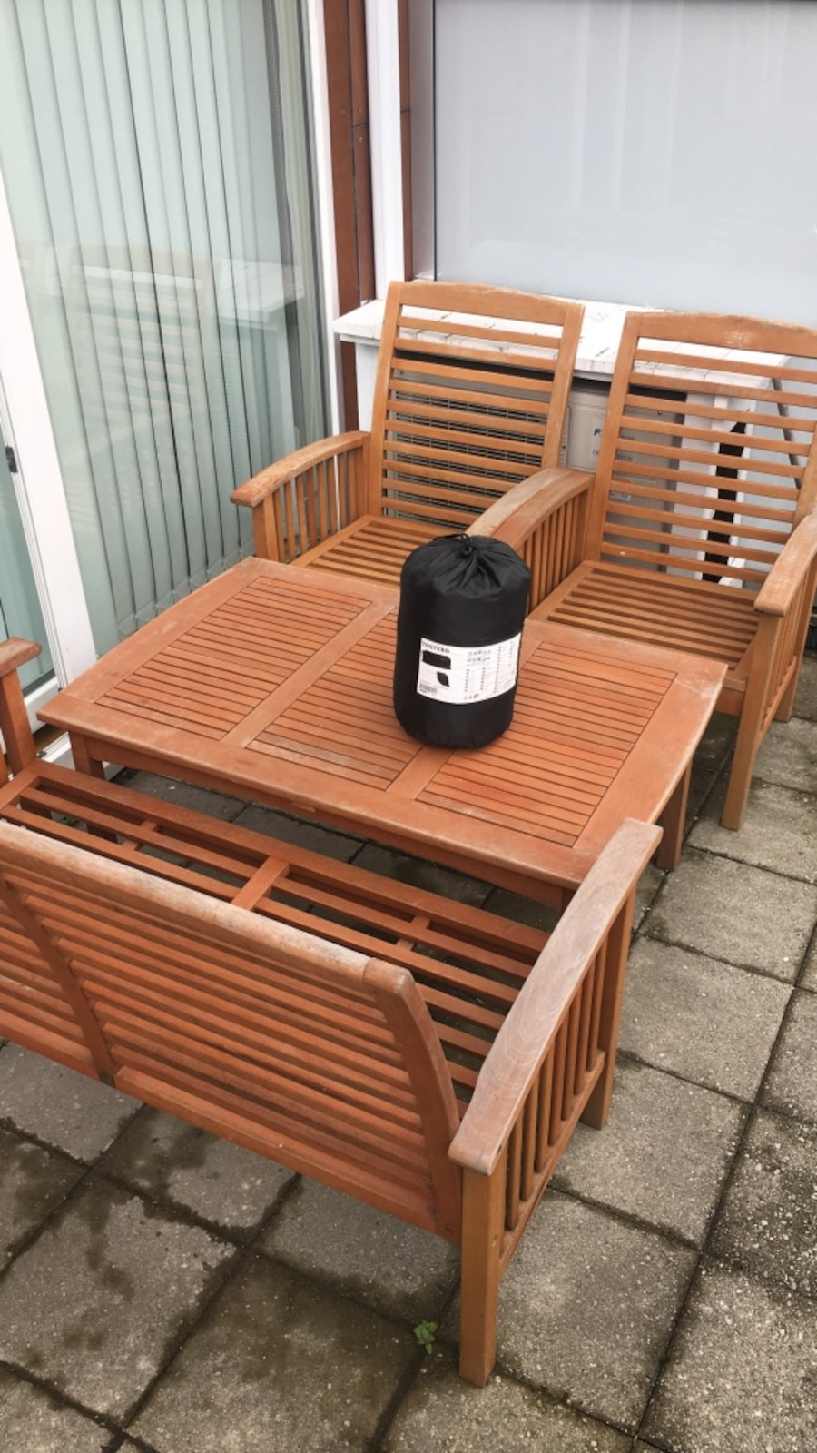 Garden furniture and winter cover.