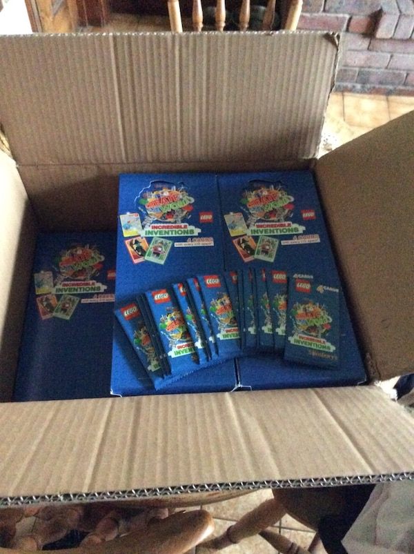 LEGO - INCREDIBLE INVENTIONS - BUILD THE WORLD - TRADING CARDS - 2018 - SEALED - NEW (60 PACKS / 240 CARDS!)