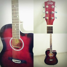 New Red acoustic guitar