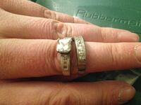 2 Silver 925 Stamped Older Avon Rings