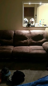 brown leather 3-seat sofa Alexandria, 22306