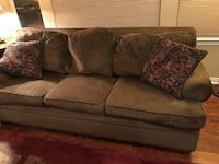"""80"""" couch olive green/brown Littleton, 80120"""